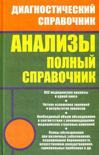 Михаил Ингерлейб, Анализы. Полный справочник