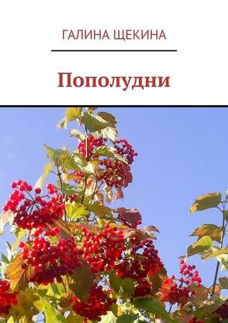Галина Щекина, Пополудни. Книга стихов