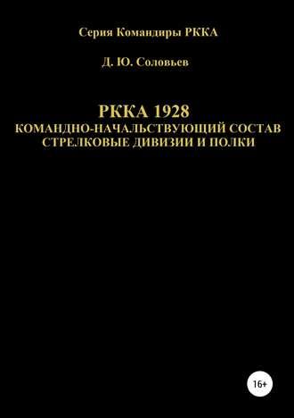 Денис Соловьев, РККА 1928 командно-начальствующий состав стрелковые дивизии и полки