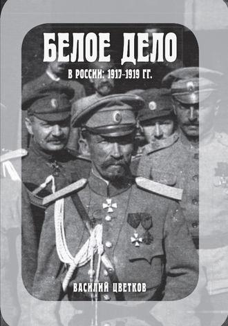 Василий Цветков, Белое дело в России: 1917-1919 гг.