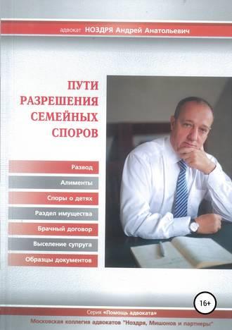 Андрей Ноздря, Пути разрешения семейных споров